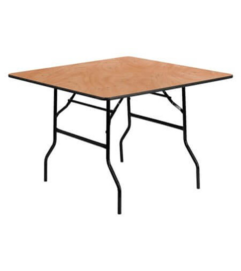 wooden square folding table_
