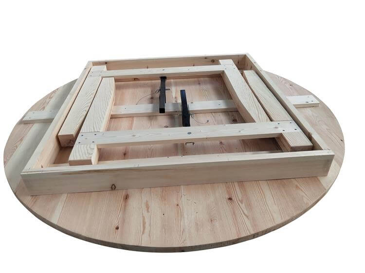 folding round table