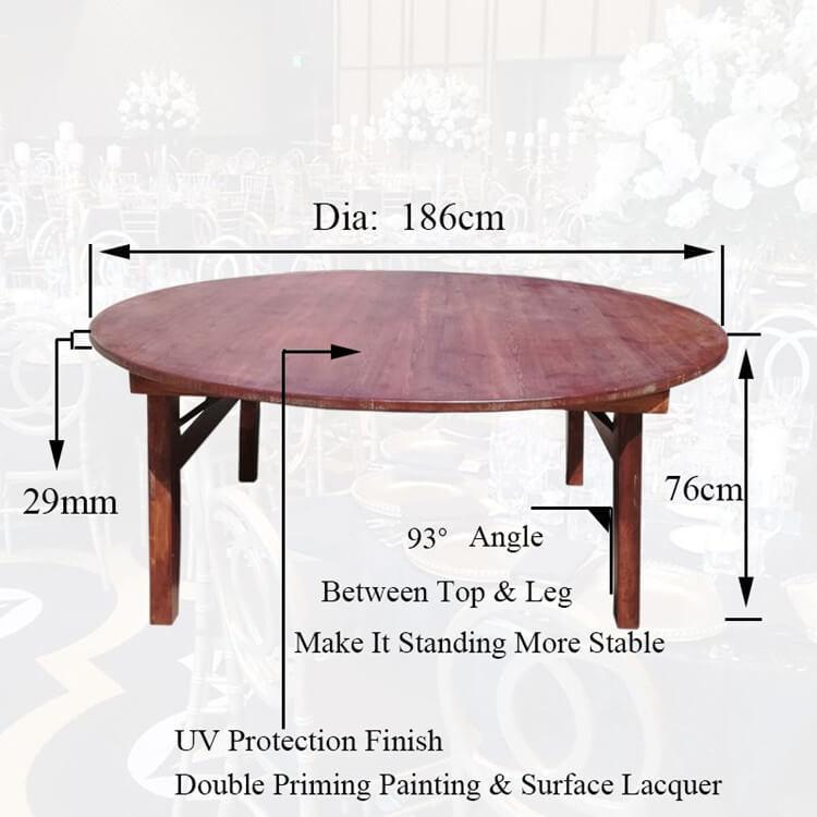 round farm table wood