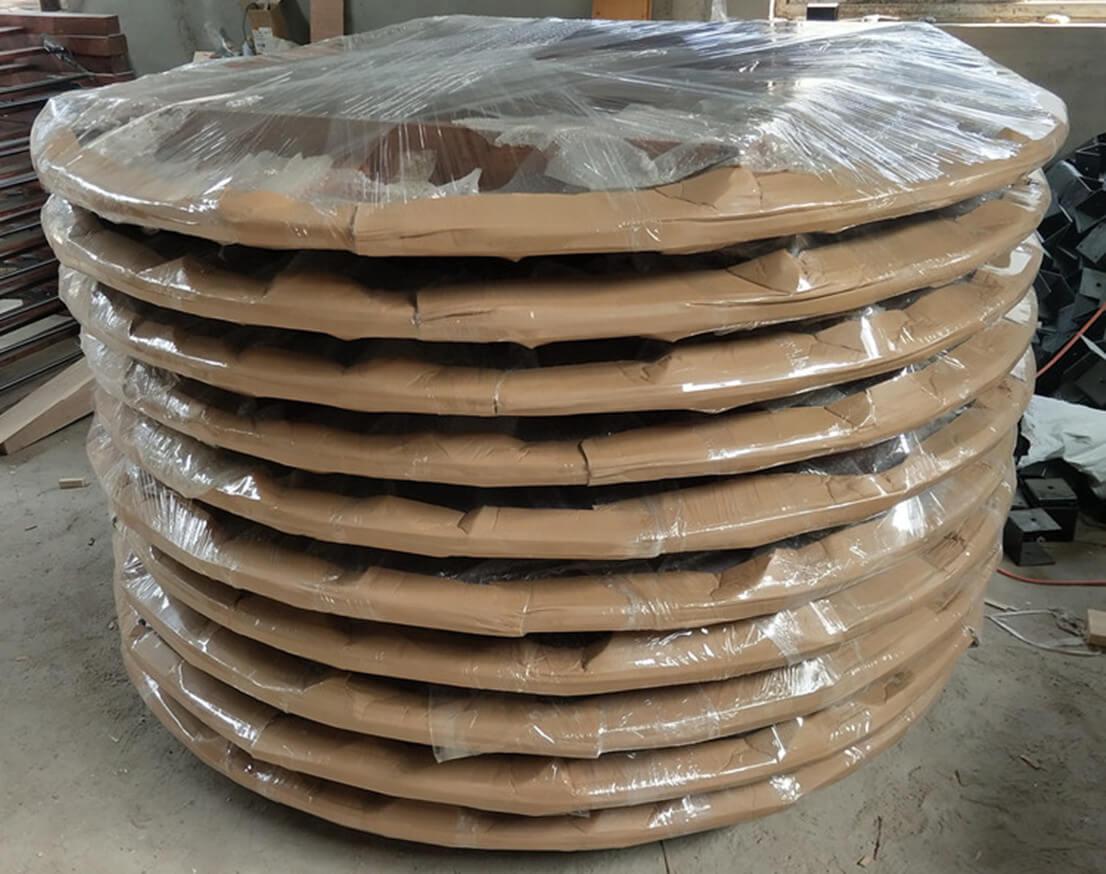 fold round farm table
