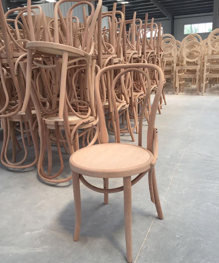 wooden thonet bentwood chair unstackable