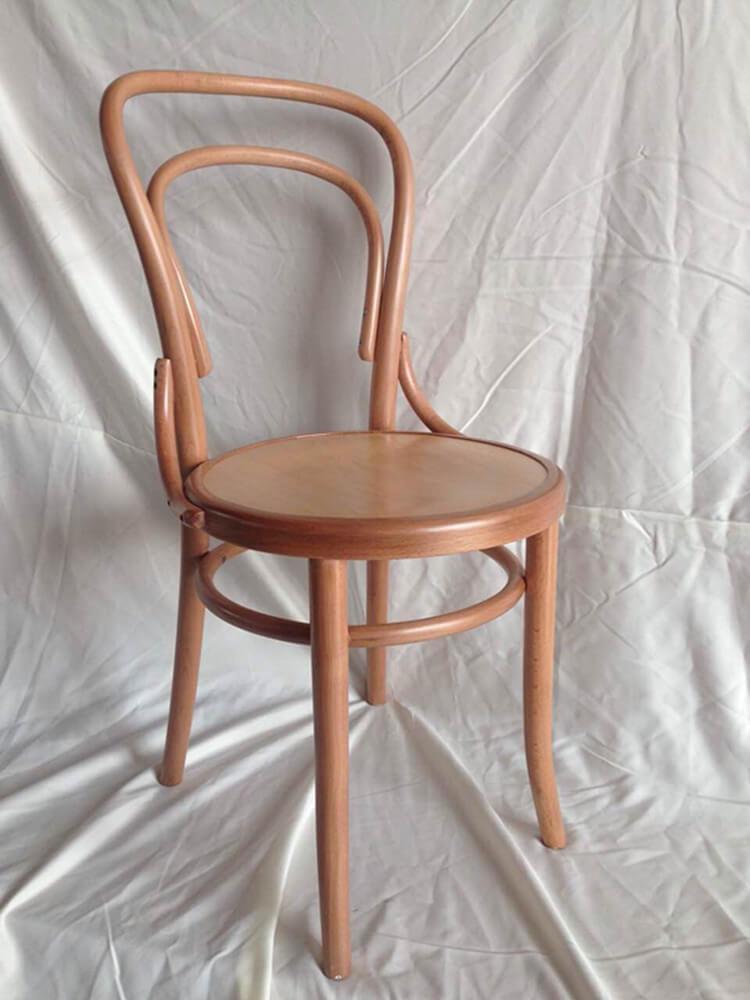 wooden thonet bentwood chair natural