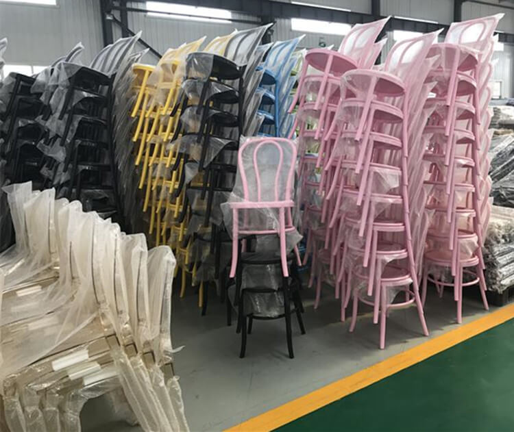 Resin thonet bentwood chairs