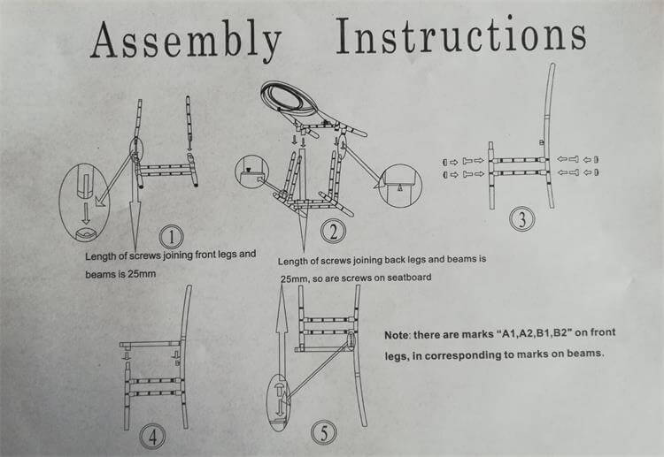 assembly instructions of resin phoenix chairs