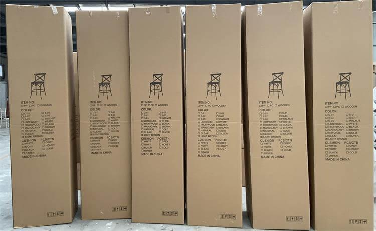 cartons for crossback barstool