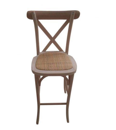 Crossback Barstool Rattan Seat