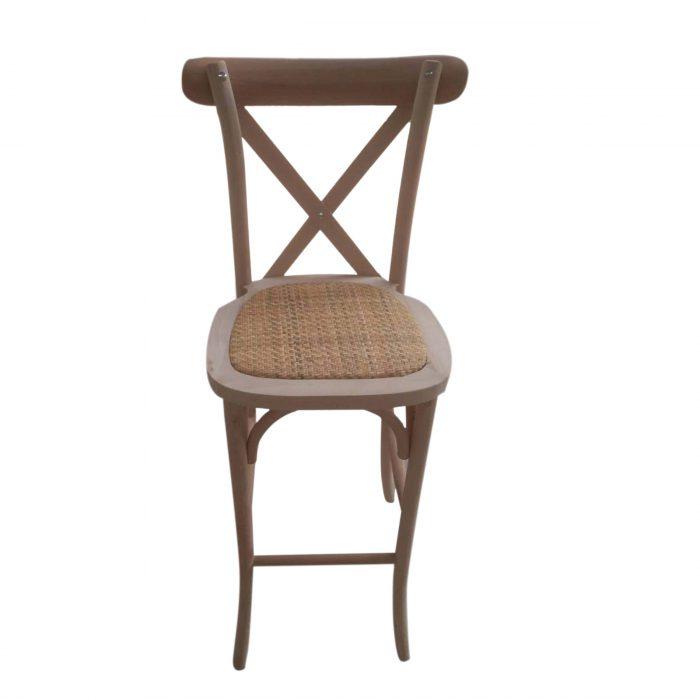 crossback chair barstool rattan seat