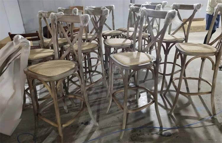 light antique color of barstool crossback chairs