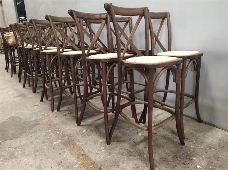 rattan seats crossback chair barstool
