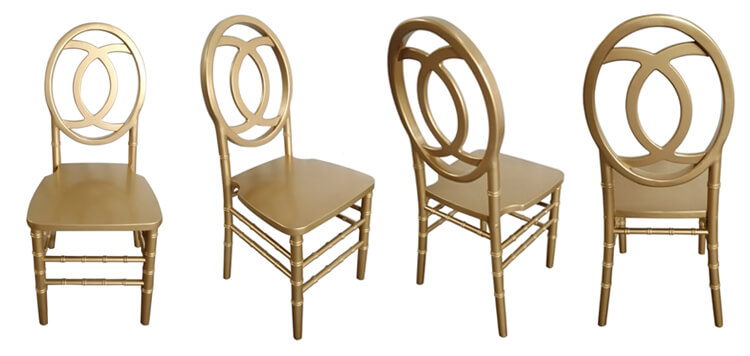 wooden gold phoniex chairs