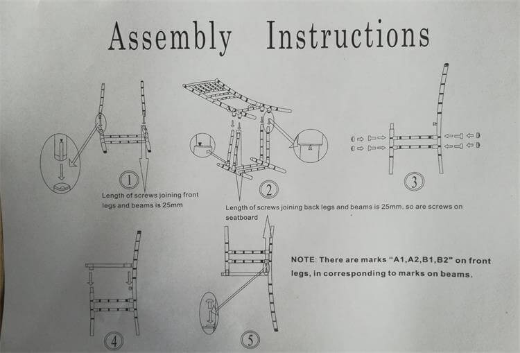 assembly instructions of resin chiavari chairs