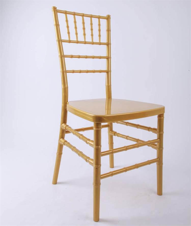 gold resin chiavari chairs manufacturer