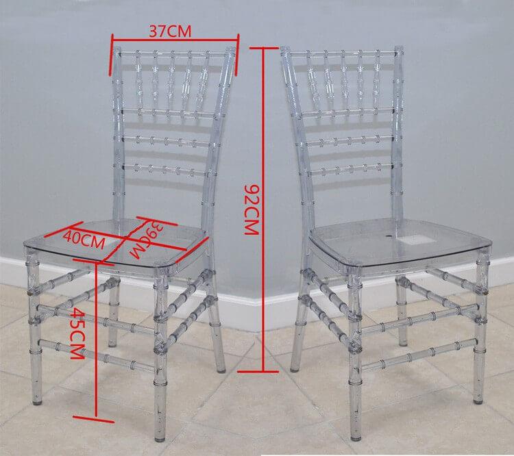 Clear resin chiavari chairs wholesale