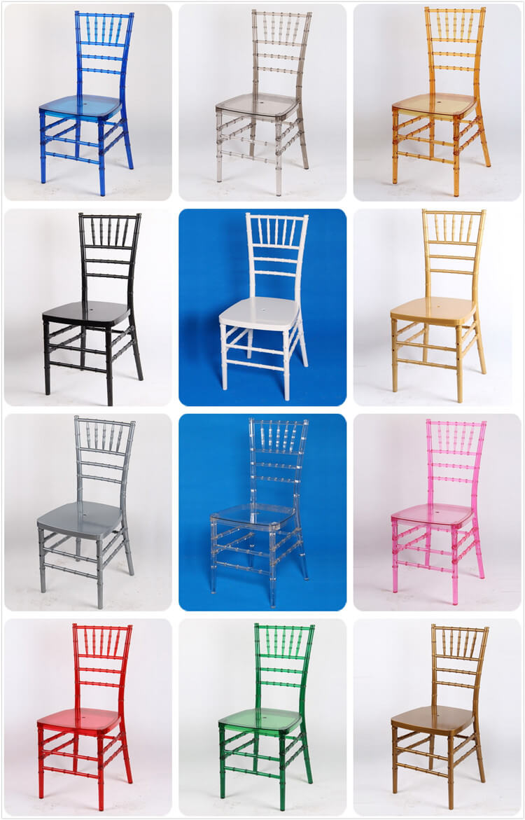 difference color of resin chiavari chairs