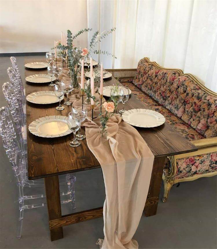 Rustic tables with napoleon chairs