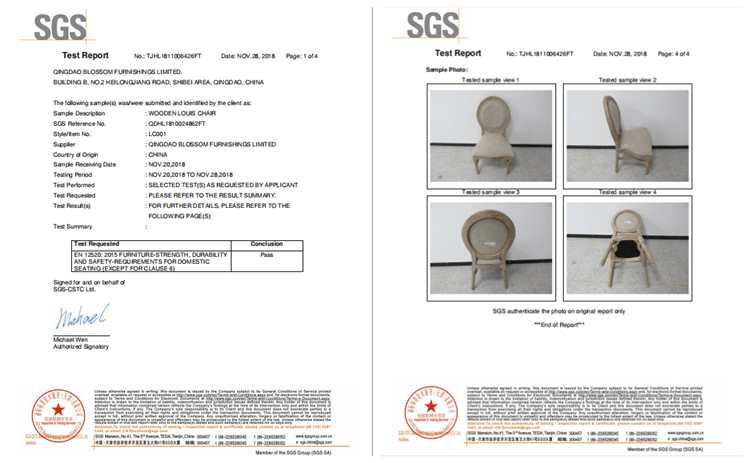 Louis Dining Chair test report
