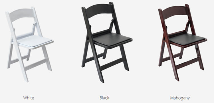 resin folding chair color