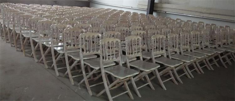 wooden folding napoleon chair limewash