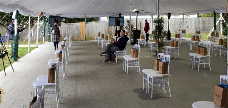 white chairs resin