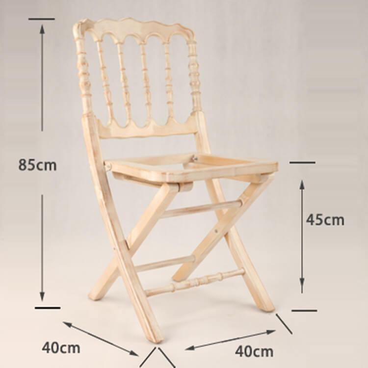 size  folding napoleon chair