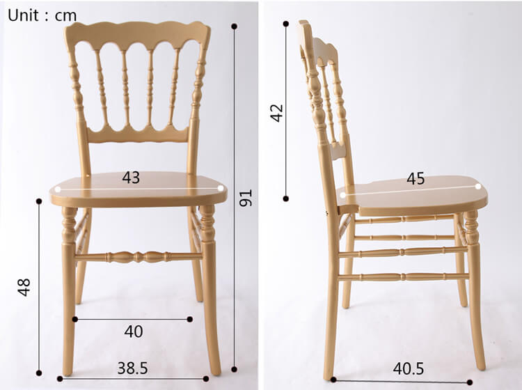 napoleon dining chairs size