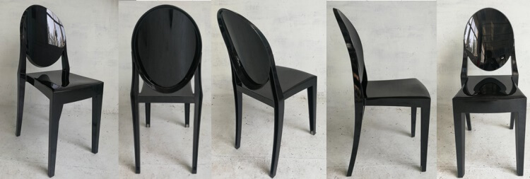 Black Resin Victoria Ghost chair