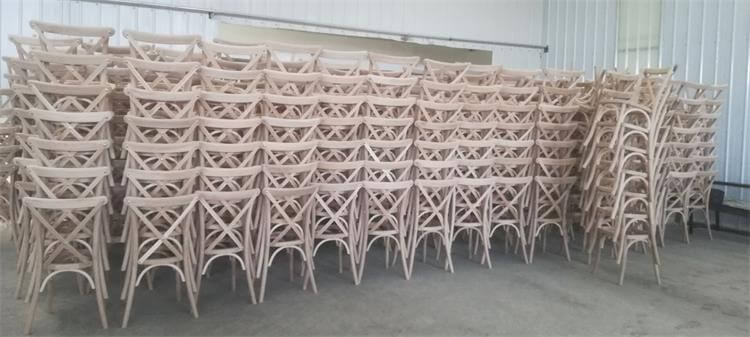 oak x back chairs