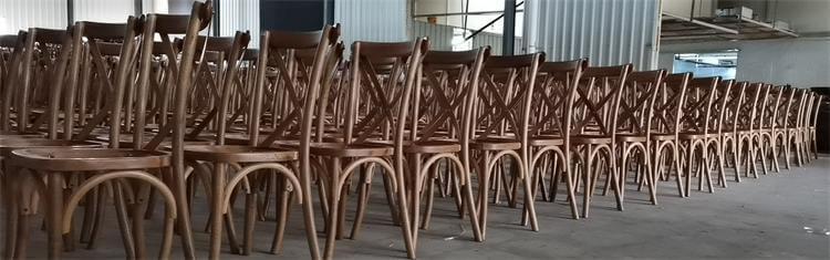 UK oak cross back chairs