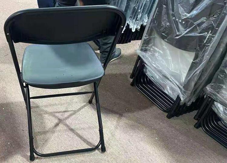 black folding chair factory