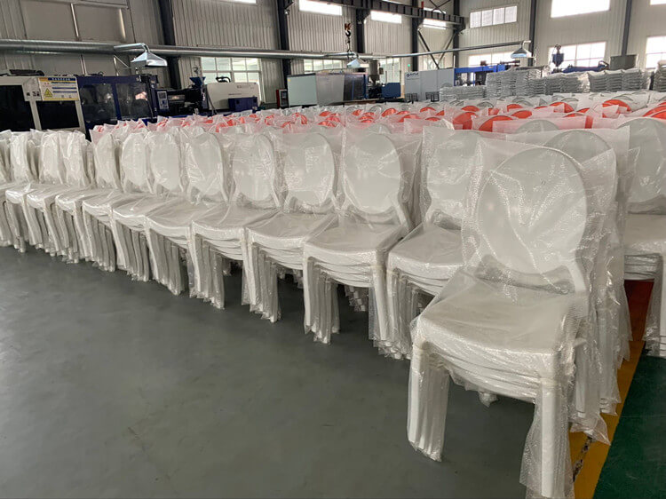 white ghost chairs