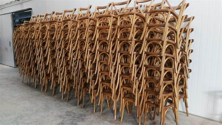 natural oak x back chairs factory