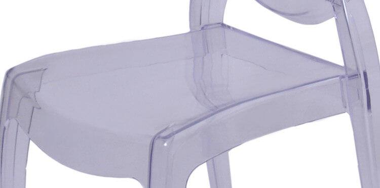 resin victoria ghost chair seat