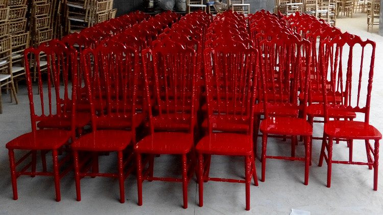 wooden red VIP chair