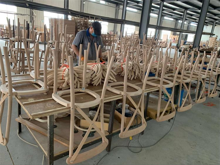 wooden cross back chairs production processing