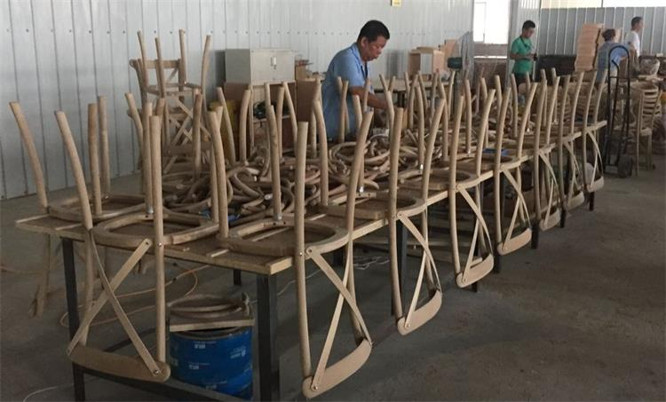 wooden crossback chairs assembled