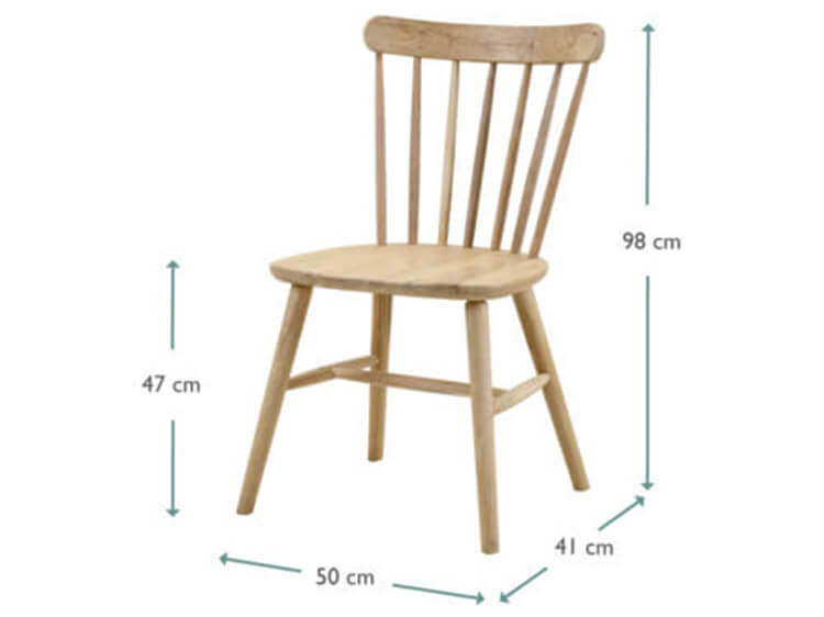 wooden windsor chair
