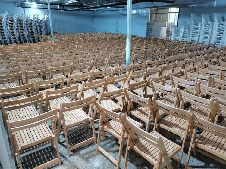 light natural slat folding chairs