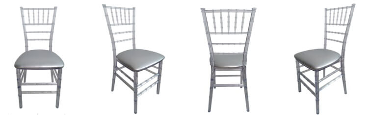 Clear Chair with silver cushion