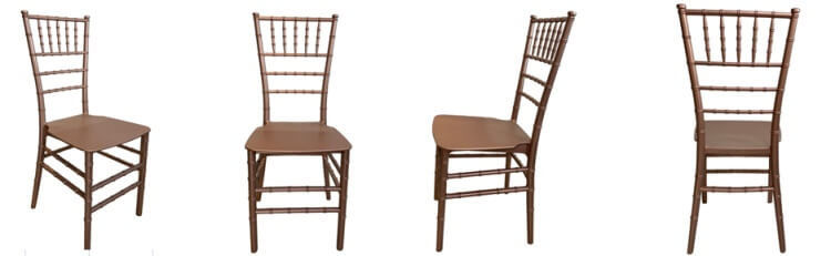Rose gold color of PP chiavari chairs