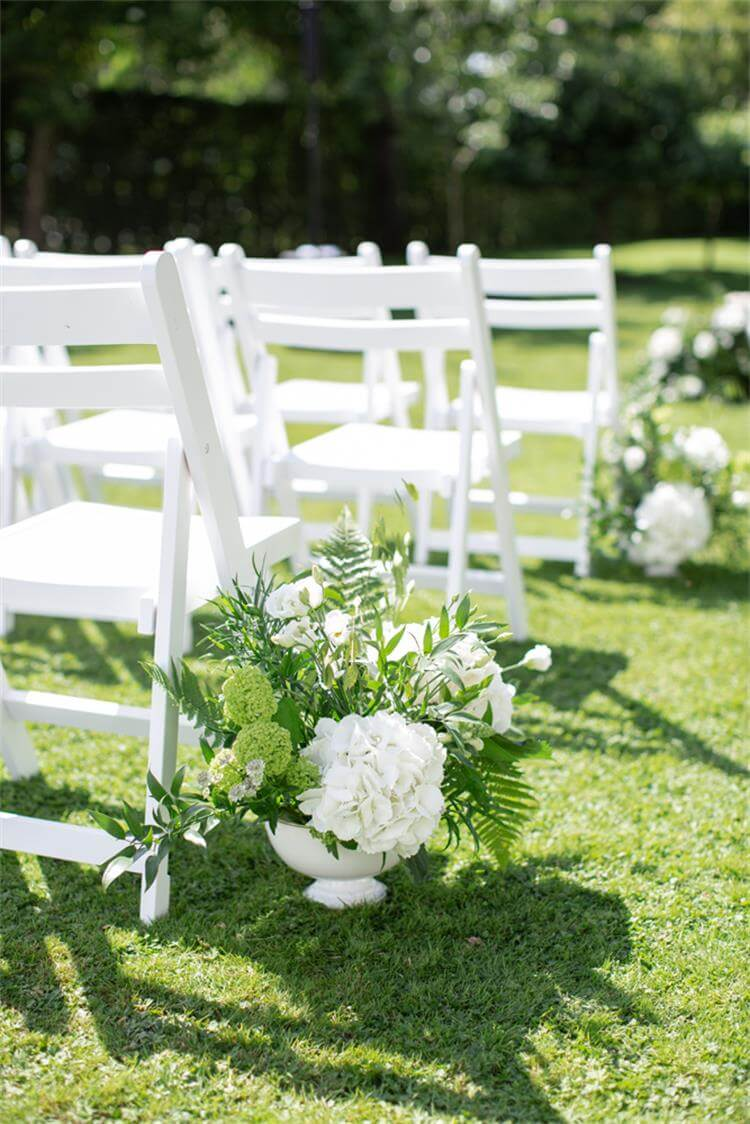 Wooden Slat Folding Chairs white