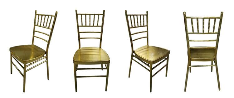 aluminum chiavari chairs gold