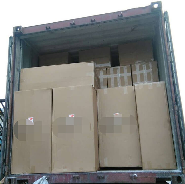 loading container of tiffany chairs