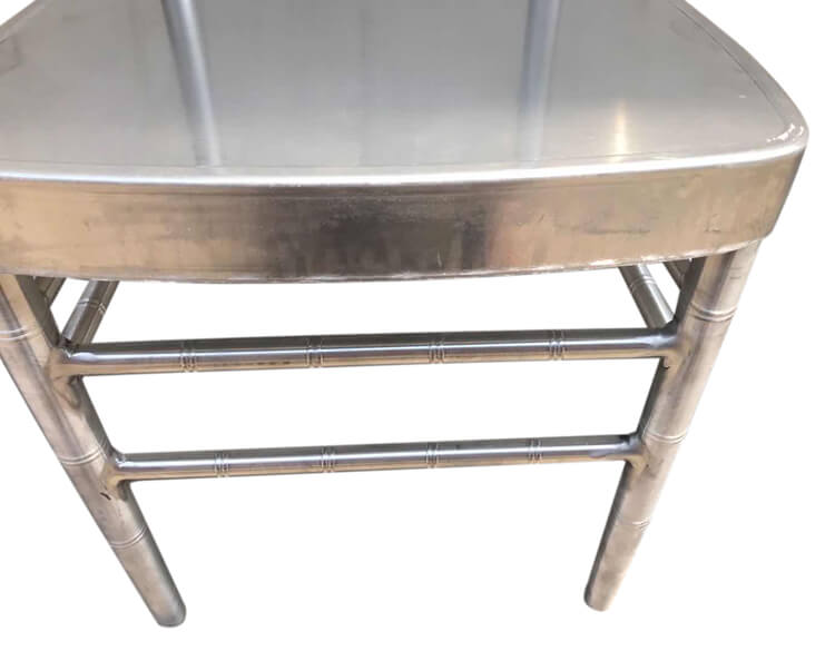 details of aluminum chairs