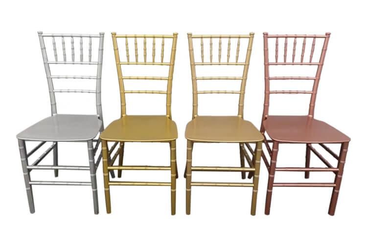difference colors of pp chairs