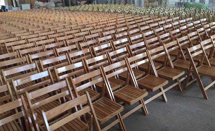 mass production of wedding chairs