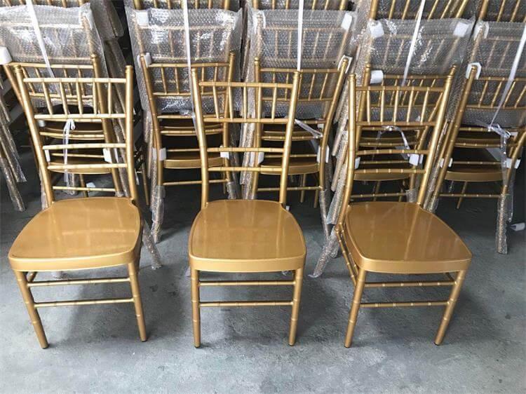 gold aluminum chiavari chairs
