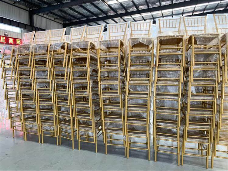 gold chiavari chairs mass production