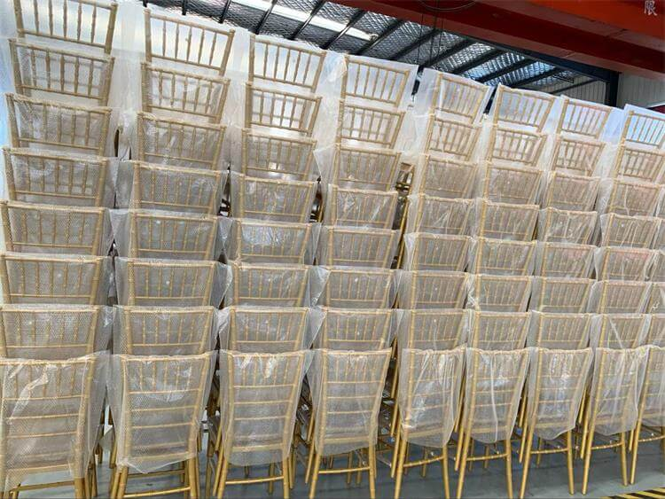 gold resin chiavari chairs