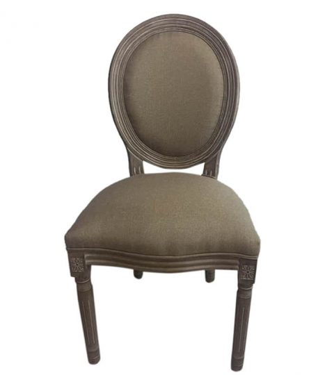 Fabric Seat Wood Louis Chair