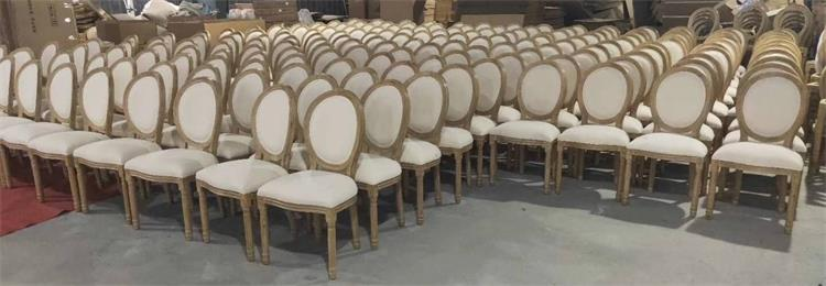 mass production of fabric wooden louis chairs